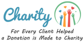 For Every Client Helped a Donation is Made to Charity